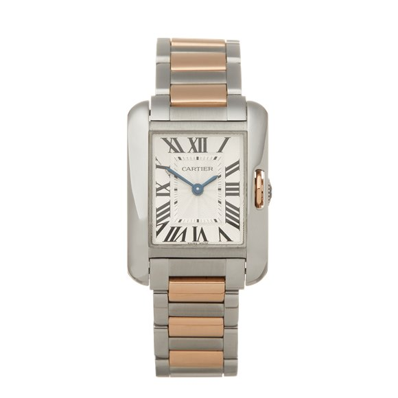 Cartier Tank Anglaise Stainless Steel & 18K Rose Gold - W5310036 or 3485