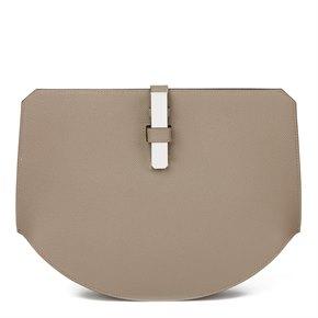 Hermès Gris Asphalte Epsom Leather Pochette Baton De Craie