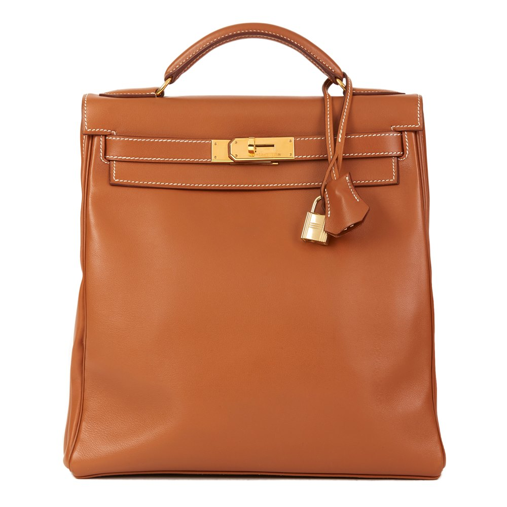 a67a029444 Hermès Brown Swift Leather Vintage Kelly Ado Backpack