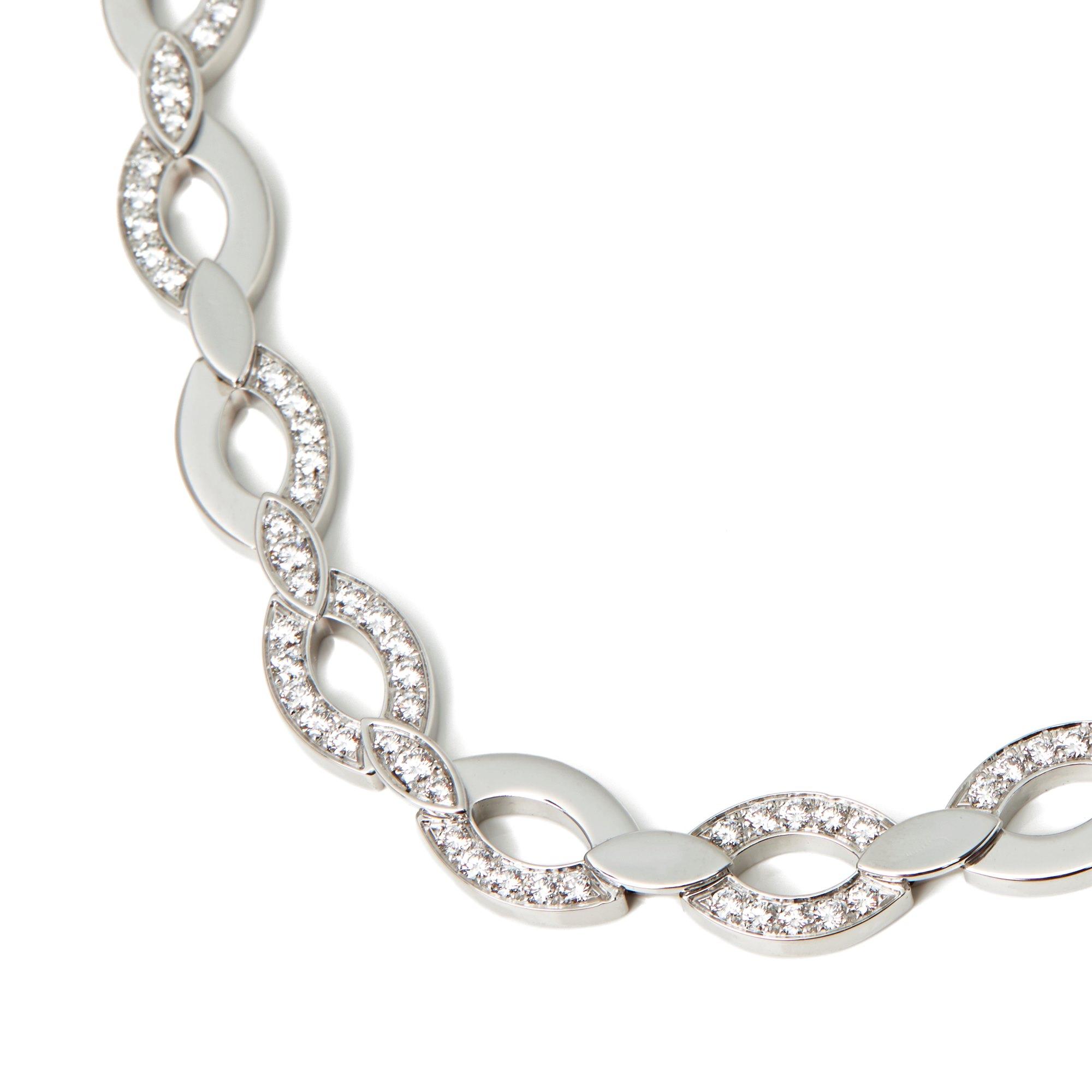 Cartier 18k White Gold Diamond Diadea Necklace