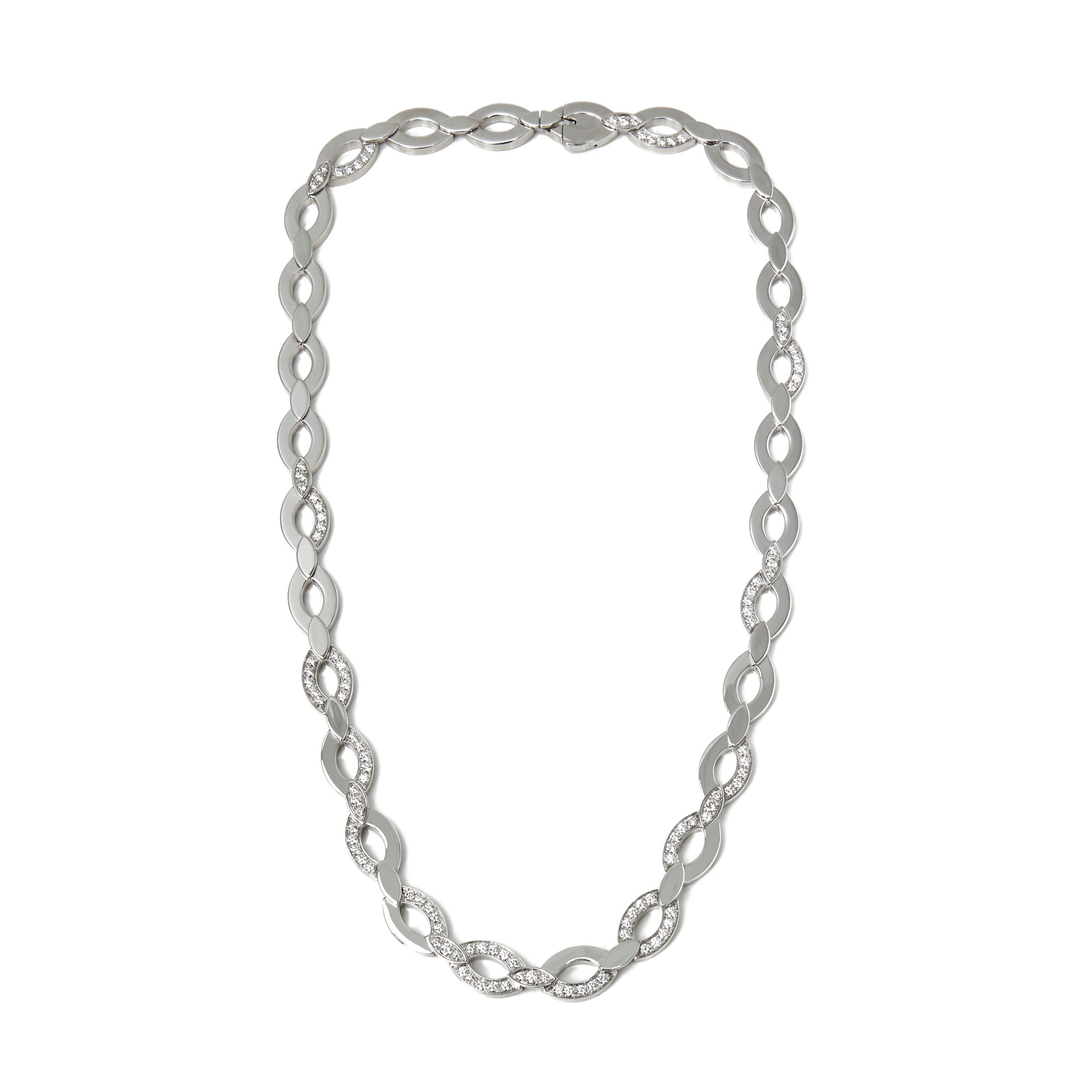 Cartier 18k White Gold Diamond Diadea Necklace