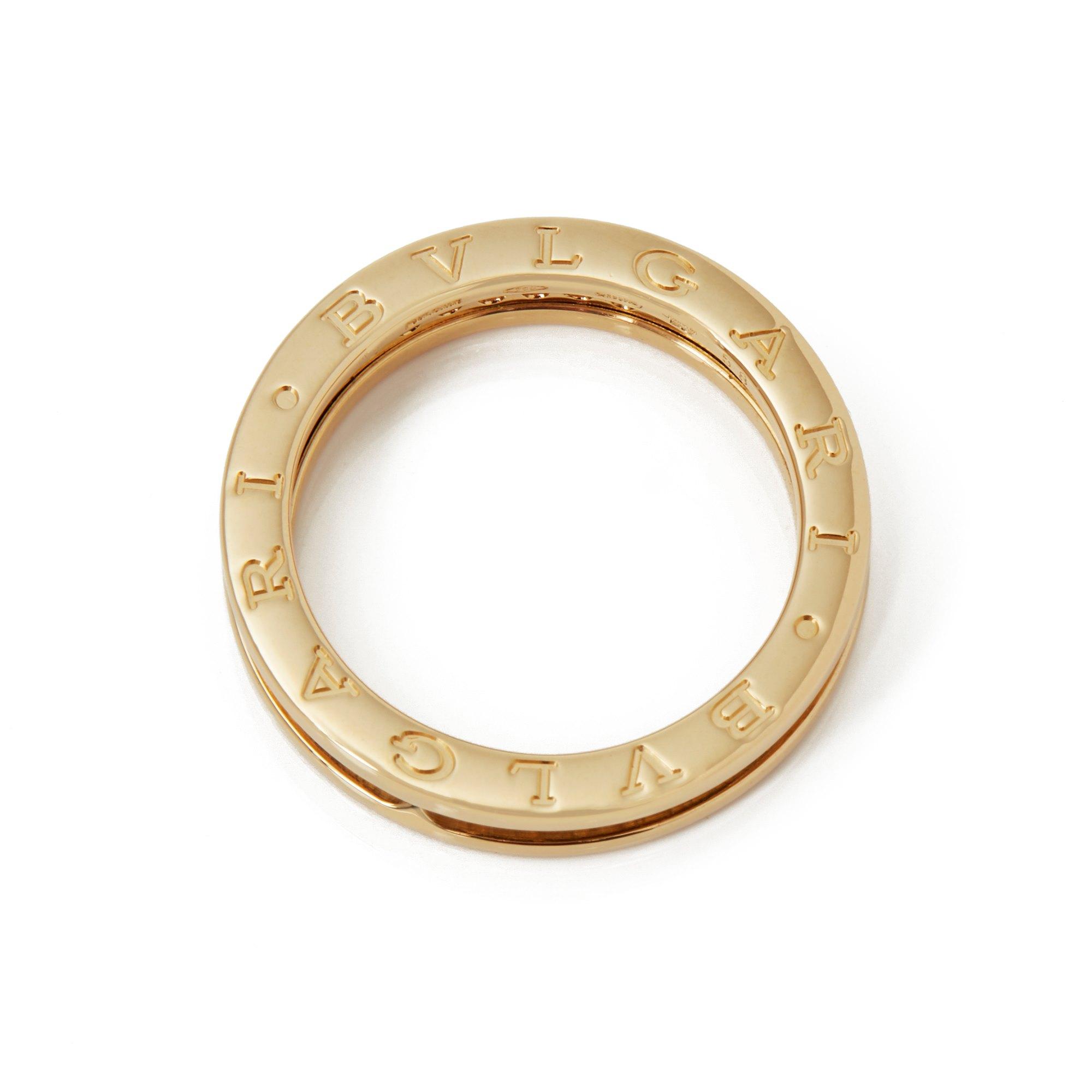 Bulgari 18k Yellow Gold Diamond B.Zero 1 Ring