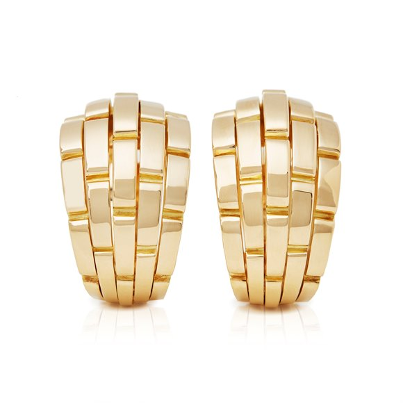 Cartier 18k Yellow Gold Maillon Panthère Earrings
