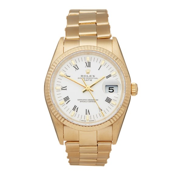 Rolex Oyster Perpetual Date 35 18k Yellow Gold - 15238
