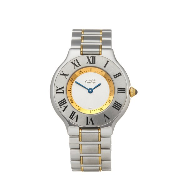 Cartier Must de 21 Stainless Steel & Yellow Gold - W10074R6 or 1330