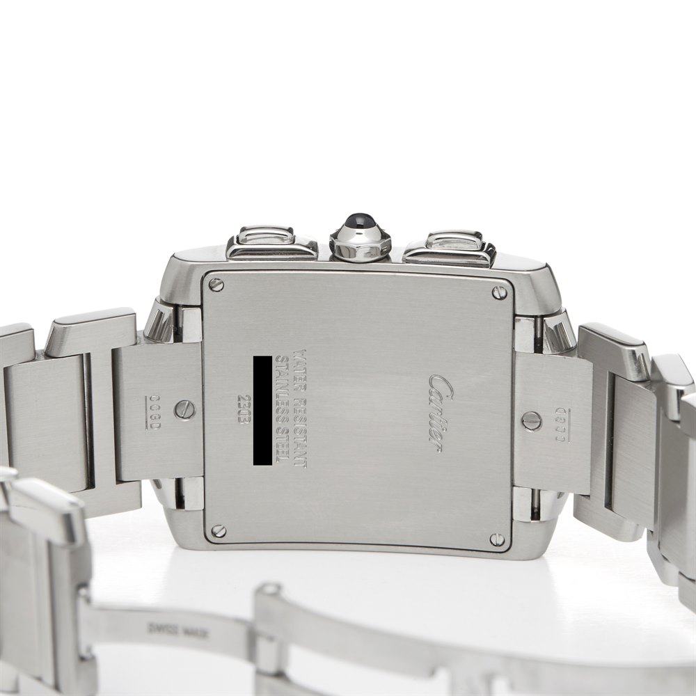 Cartier Tank Francaise Chronoreflex Stainless Steel 2303 or W51001Q3