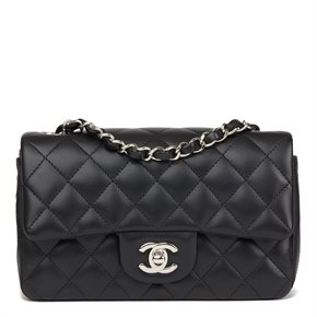Chanel Black Quilted Lambskin Rectangular Mini Flap Bag