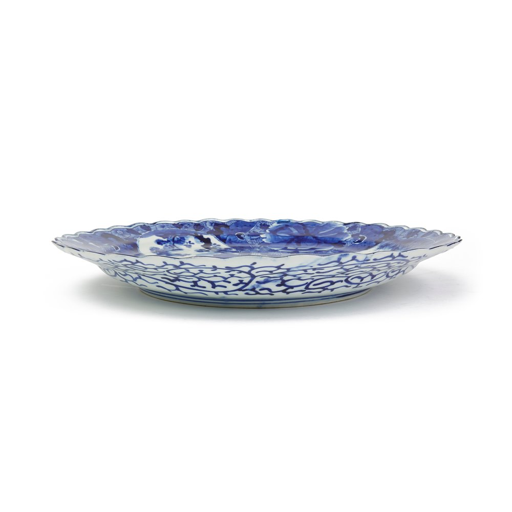 LARGE JAPANESE ARITA BLUE & WHITE PORCELAIN DISH 18/19TH C. Possibly late 18th but probably 19th Century