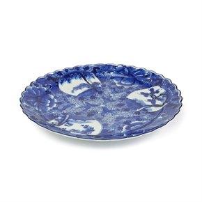 LARGE JAPANESE ARITA BLUE & WHITE PORCELAIN DISH 18/19TH C.