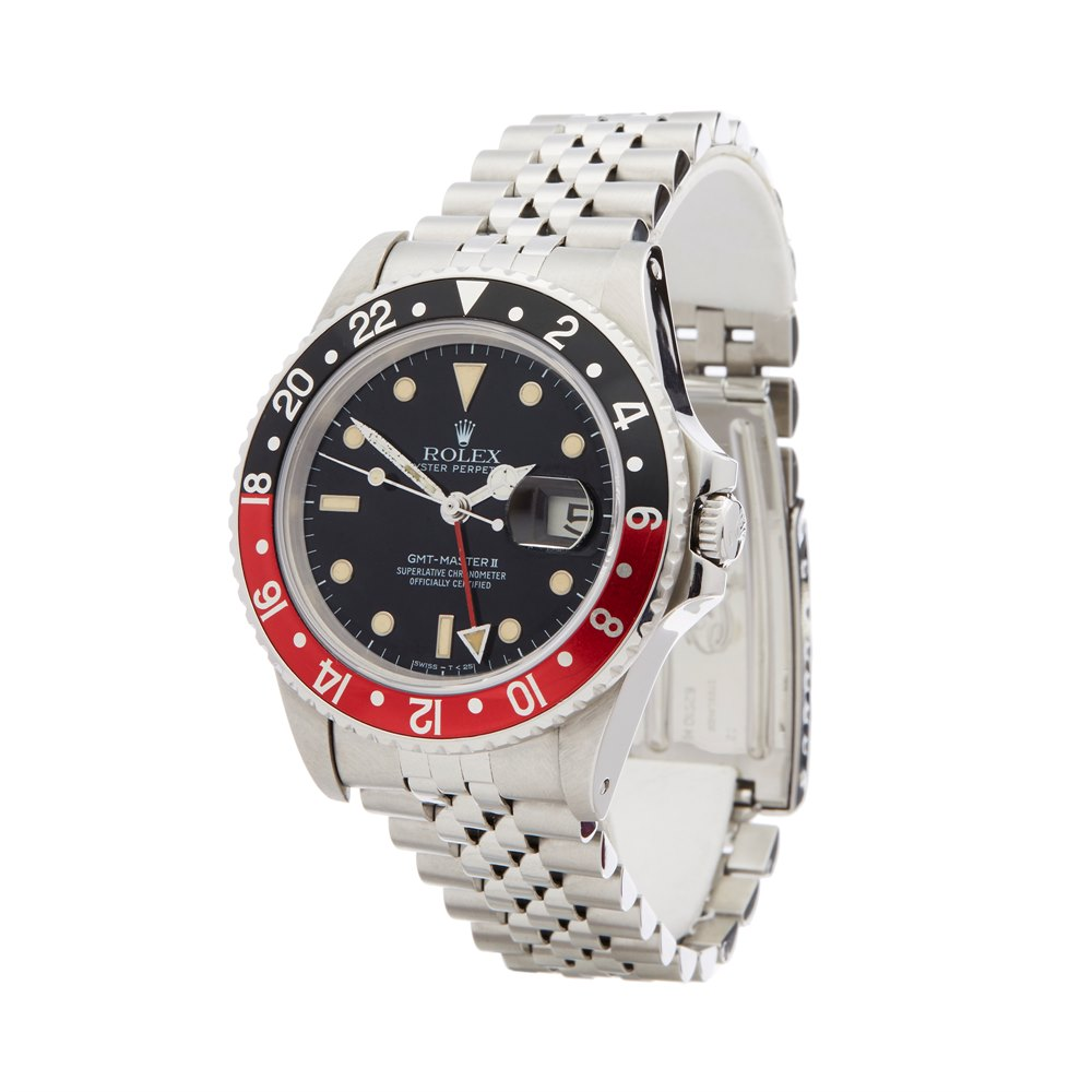 Rolex GMT-Master II Coke Fat Lady Mk1 Stainless Steel 16760