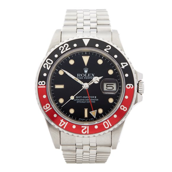 Rolex GMT-Master II Coke Fat Lady Mk1 Stainless Steel - 16760