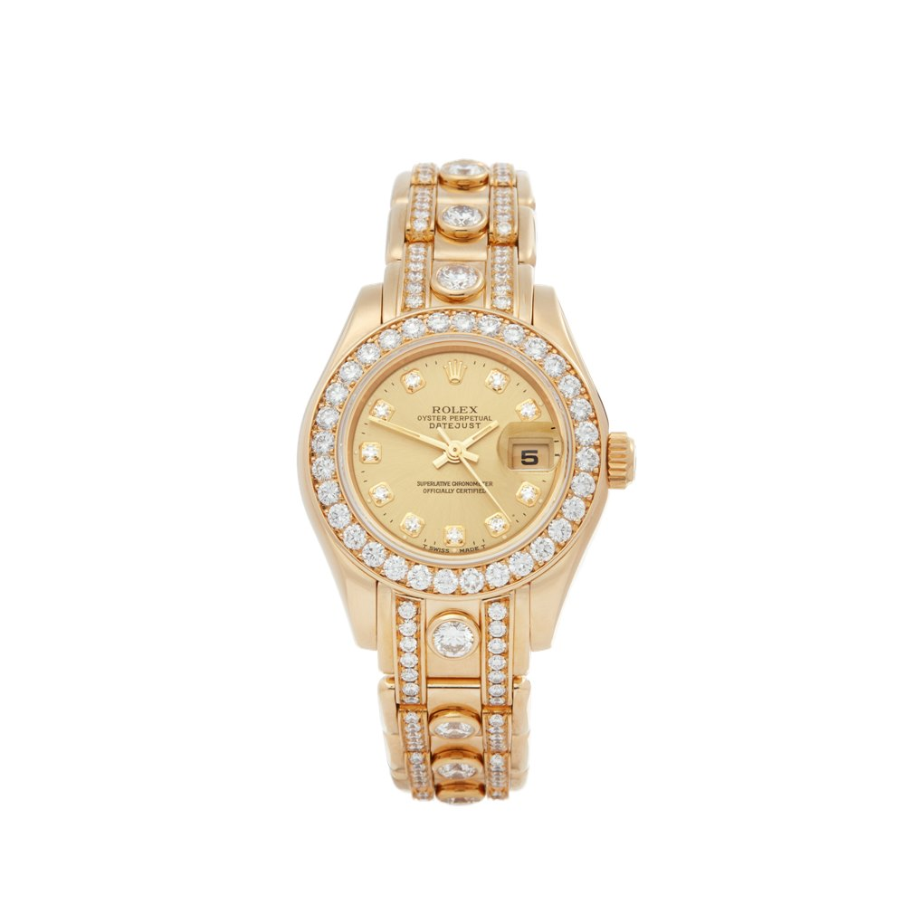 Rolex Pearlmaster 29 Diamond 18K Yellow Gold 69298