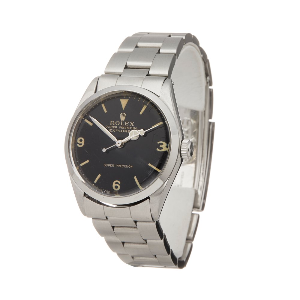 Rolex Explorer I Double Stamped T<25 Super Precision Stainless Steel 5500