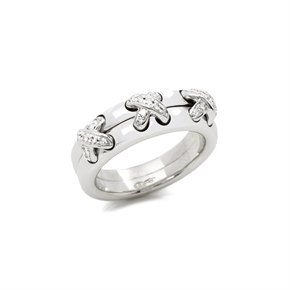 Chaumet 18k White Gold Diamond Liens Ring