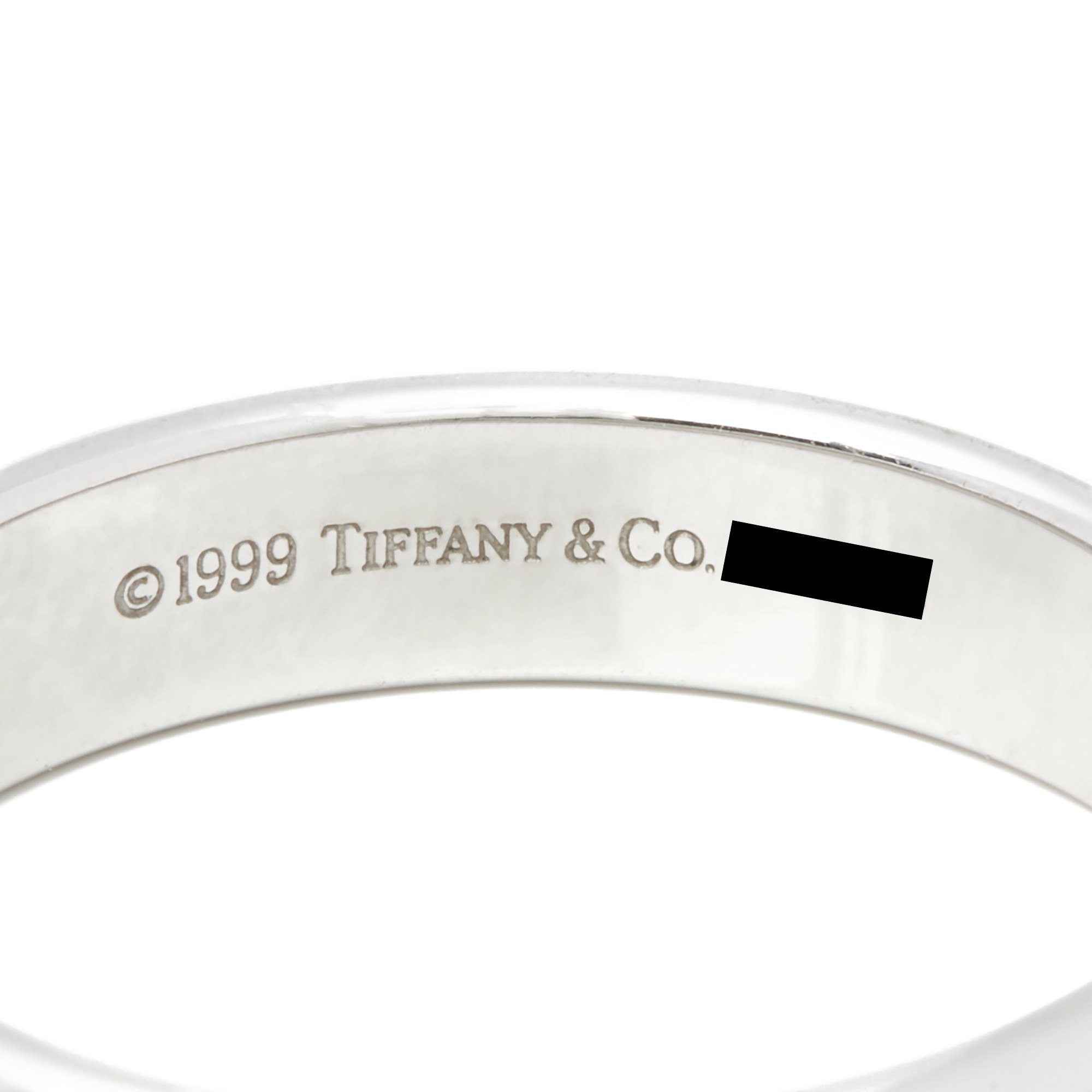 Tiffany & Co. Platinum 4.5mm Lucida Wedding Band