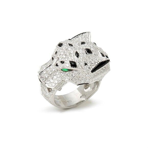Cartier 18k White Gold Diamond Panthère Ring