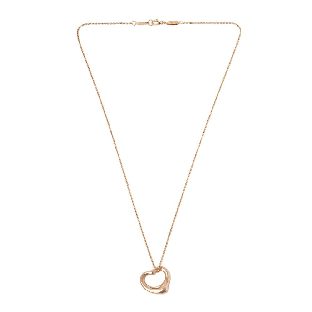 Tiffany & Co. 18k Rose Gold Heart Elsa Peretti Necklace