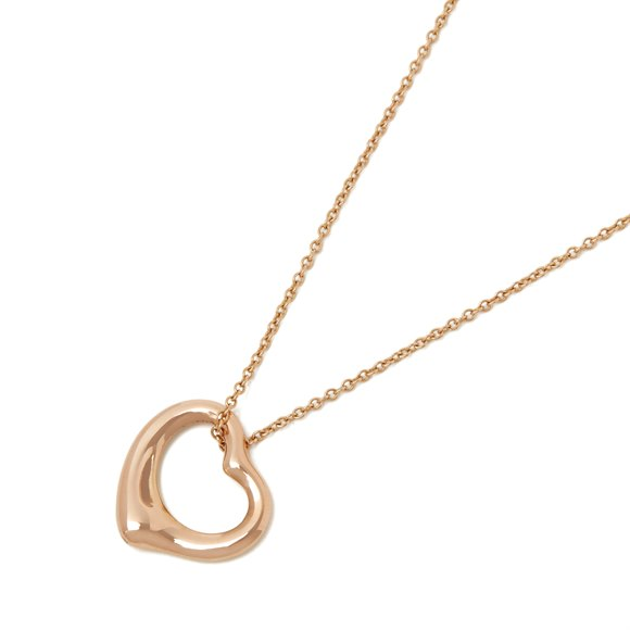 Tiffany & Co. 18k Rose Gold Heart Elsa Peretti Necklace