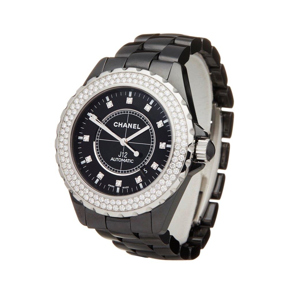Chanel J12 Diamond Ceramic H2014