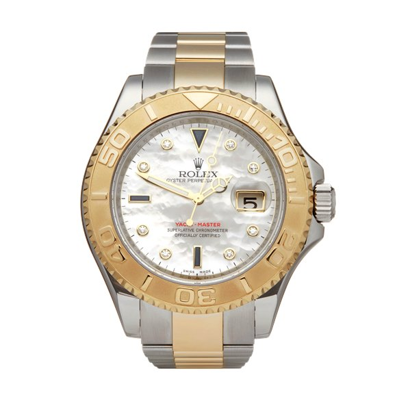 Rolex Yacht-Master Mother of Pearl Sapphire Diamond Stainless Steel & 18K Yellow Gold - 16623