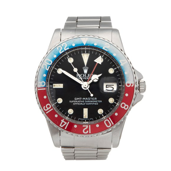 Rolex GMT-Master Pepsi pointed crown guards Stainless Steel - 1675