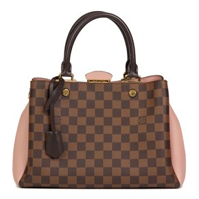 Louis Vuitton Damier Ebene Coated Canvas & Magnolia Grained Calfskin Leather Brittany