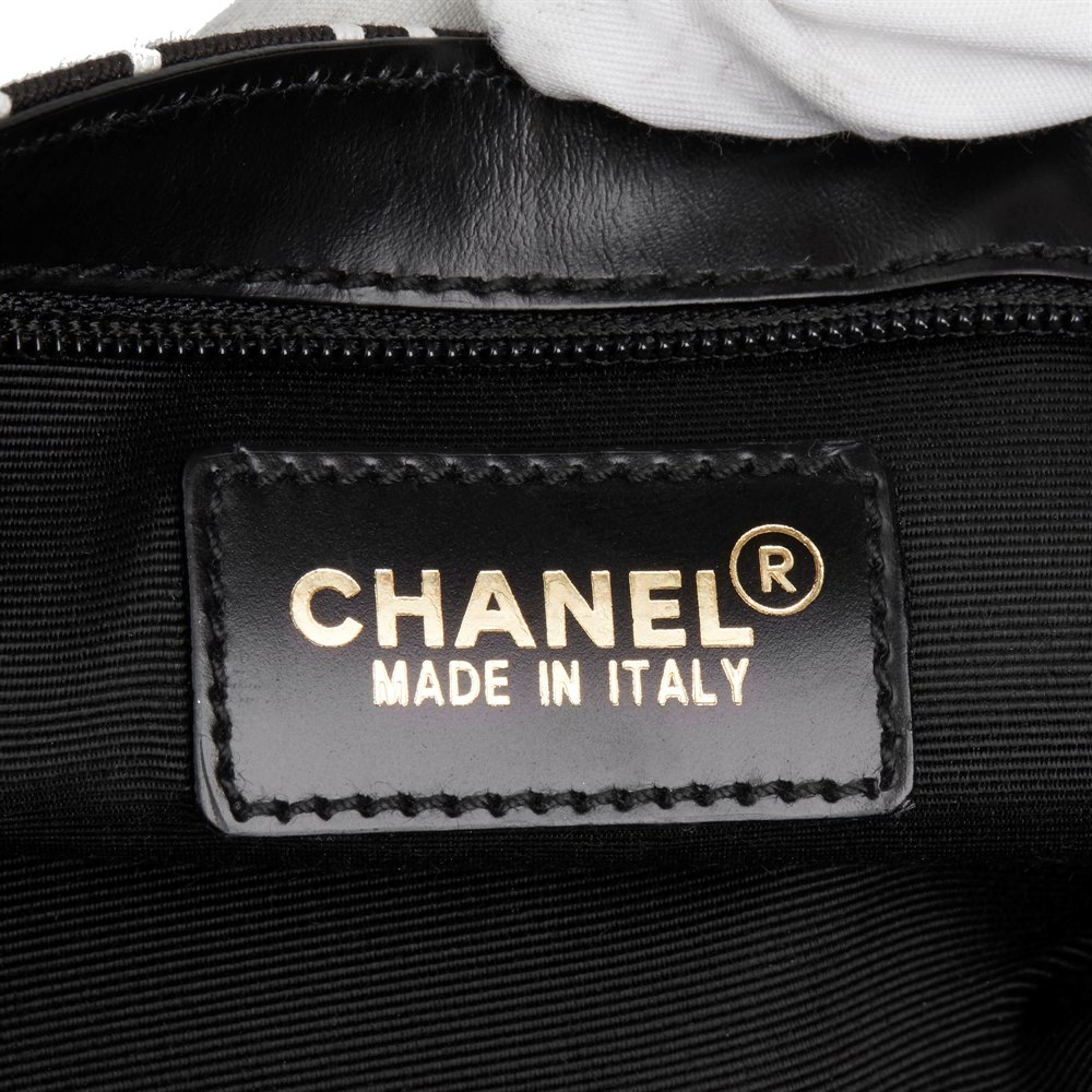 Chanel Black Canvas Coco Pouch