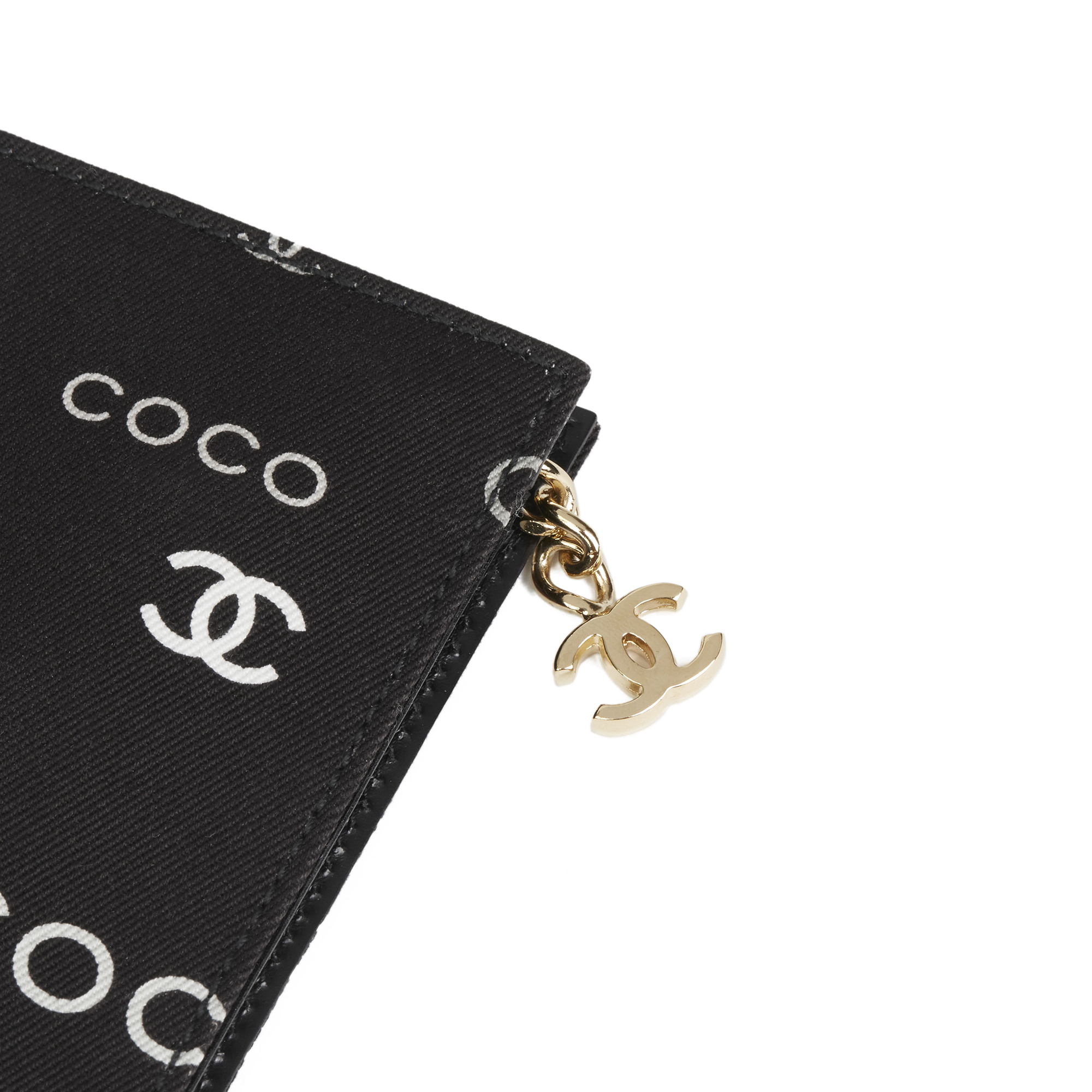 84688deeaeb8 CHANEL BLACK CANVAS COCO POUCH HB2720 | eBay