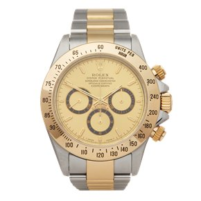 Rolex Daytona A Serial, Unpolished Zenith Chronograph 18k Stainless Steel & Yellow Gold - 16523