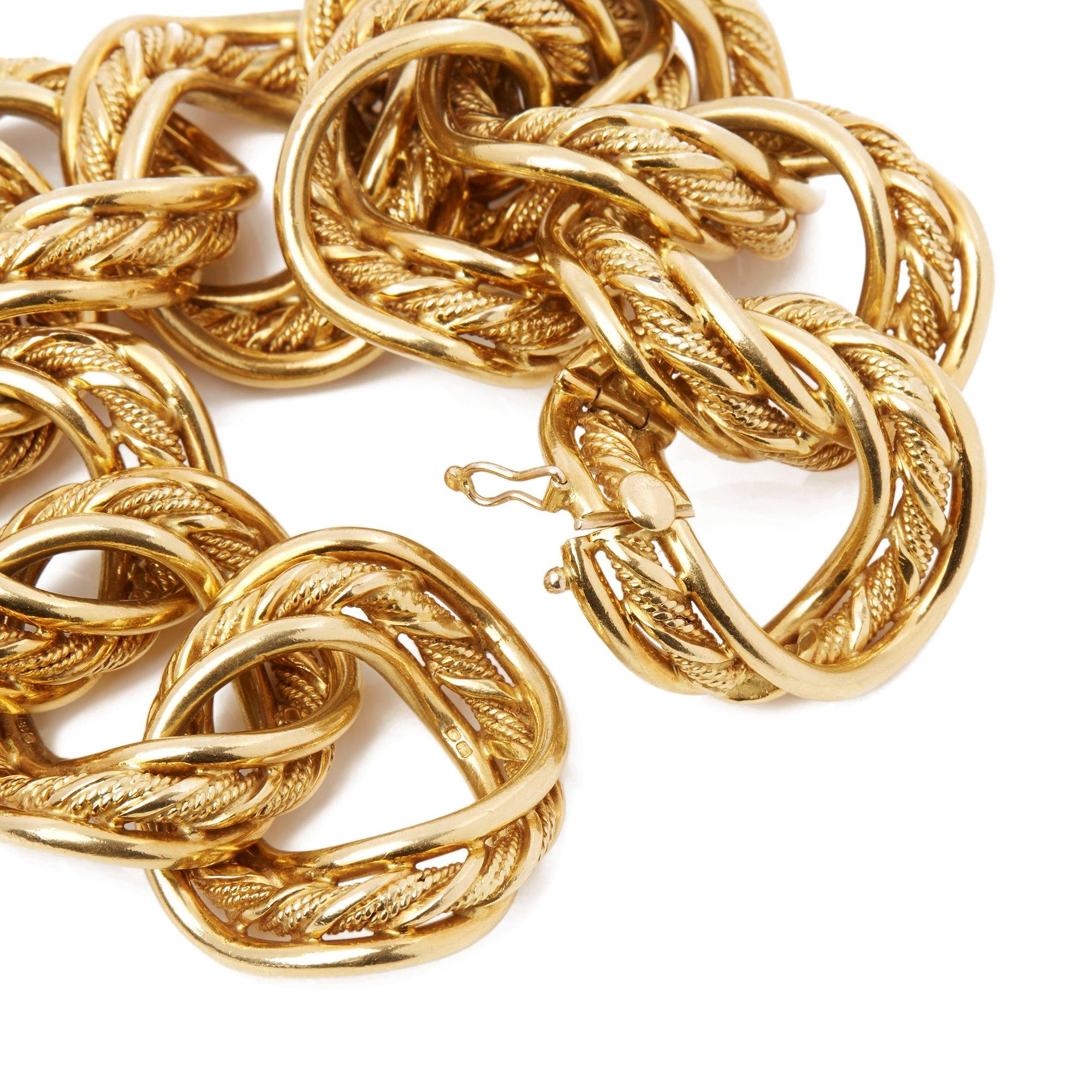 Kutchinsky 18k Yellow Gold 1960's Heavy Link Vintage Bracelet
