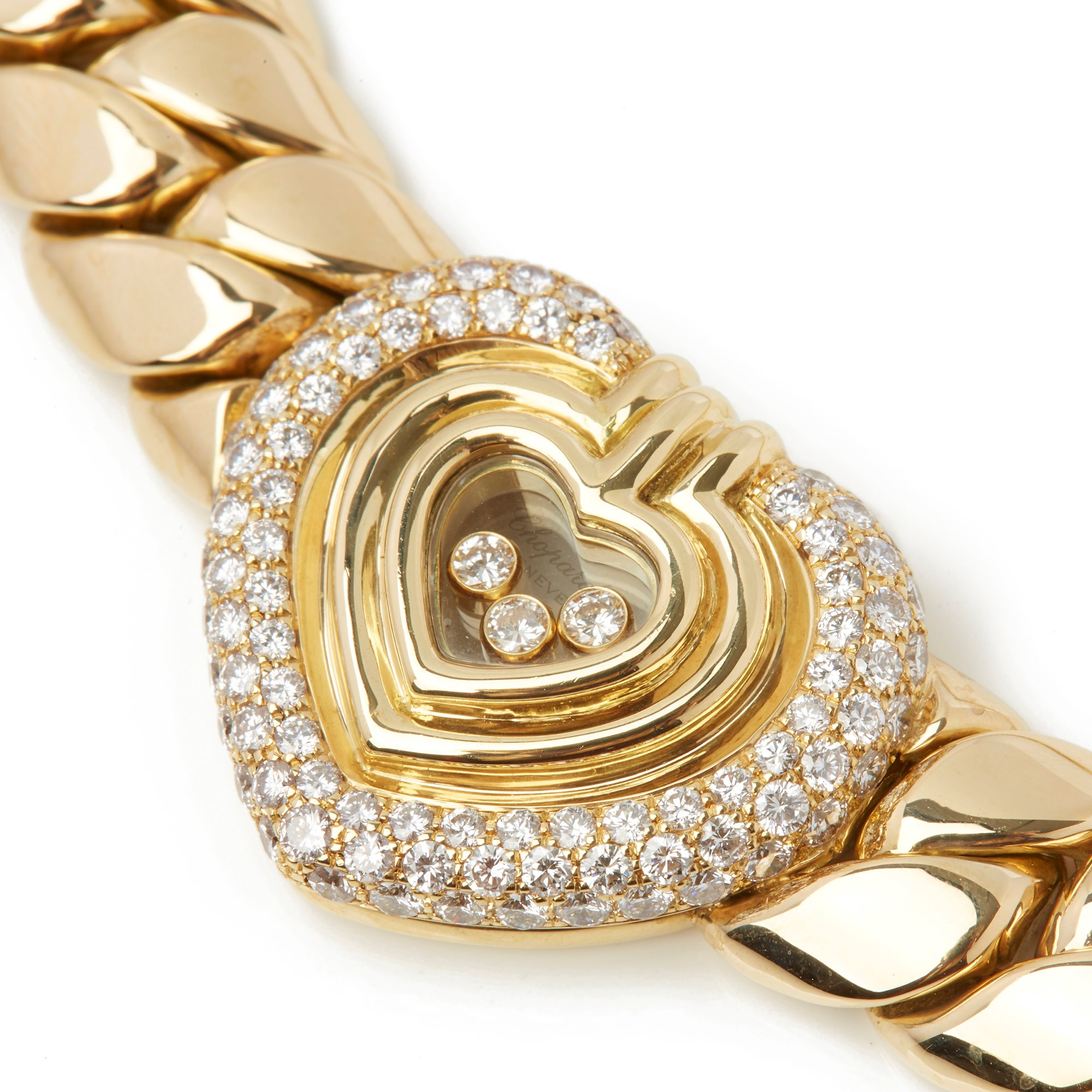 Chopard 18k Yellow Gold Happy Diamonds Necklace