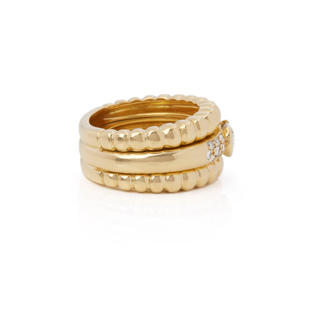 Piaget 18k Yellow Gold Diamond Dress Ring