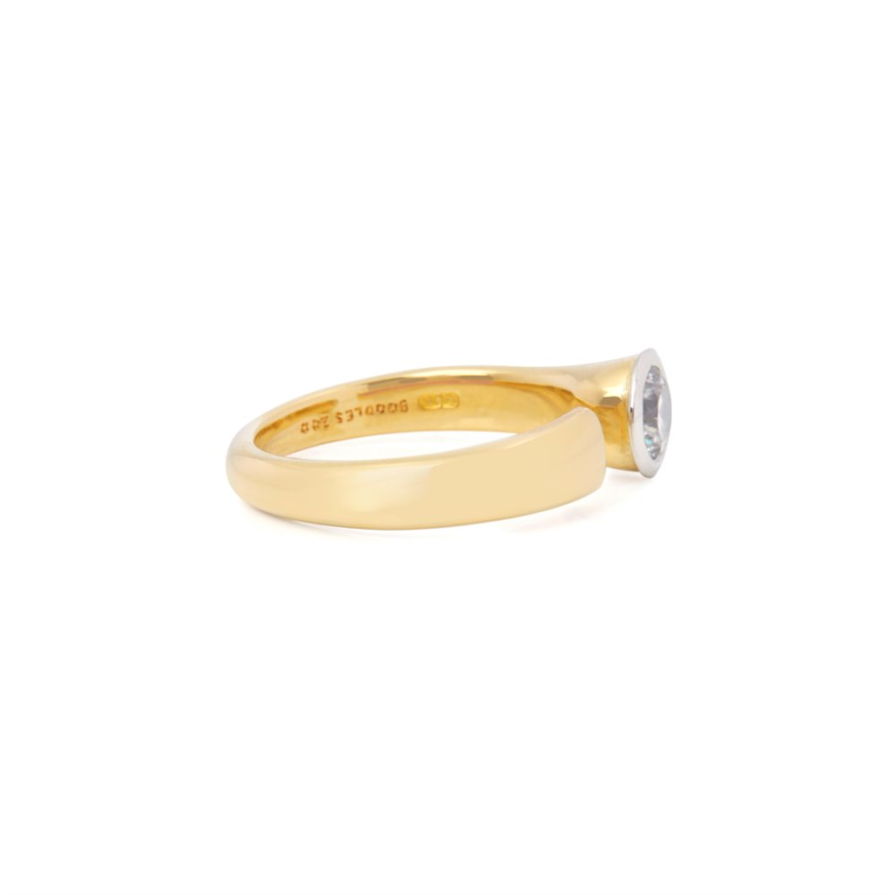 Boodles 18k Yellow Gold Solitaire 0.70ct Diamond Ring