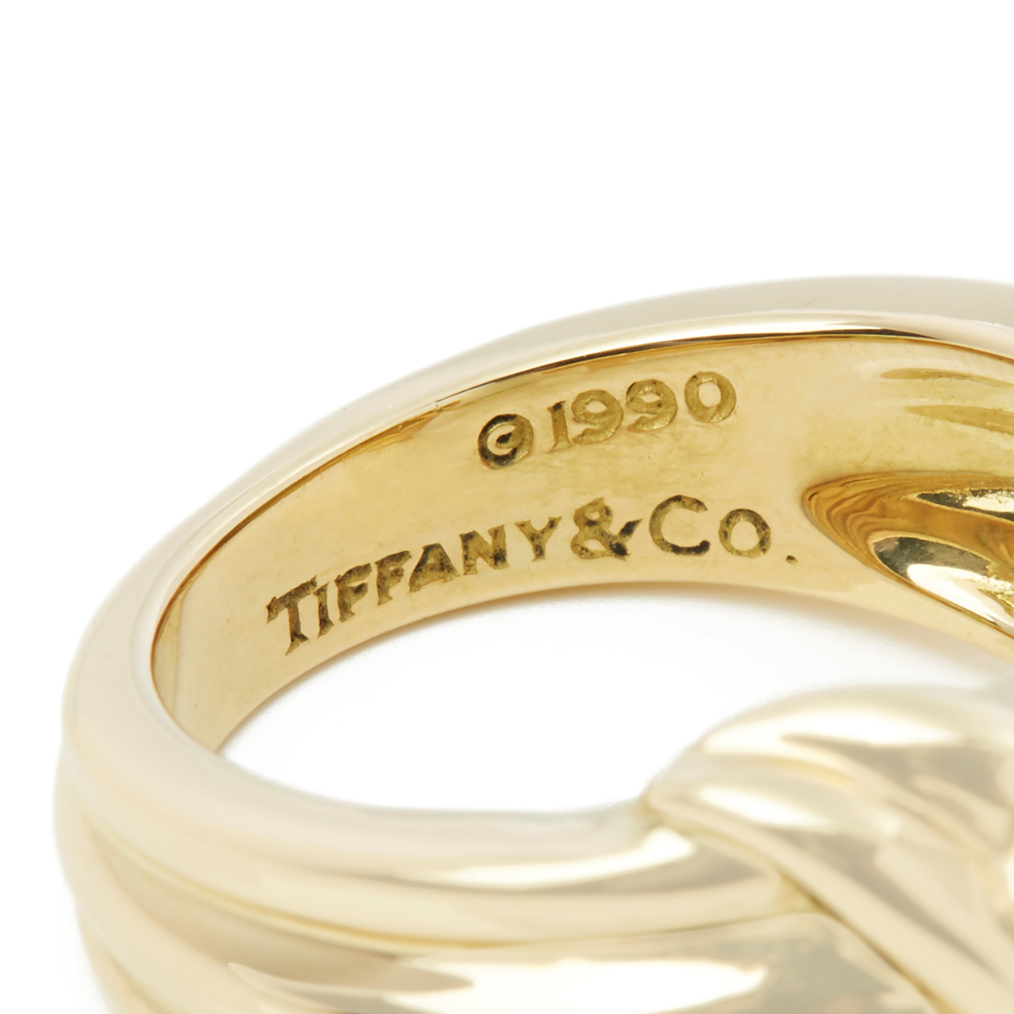 Tiffany & Co. 18k Yellow Gold Colombian Emerald Cocktail Ring
