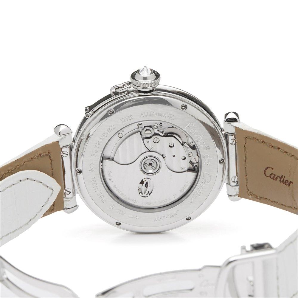 Cartier Pasha de Cartier Enamel Dial White Gold WJ124006 or 3142L