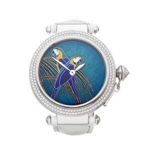 Cartier Pasha de Cartier Enamel Dial 18K White Gold - WJ124006 or 3142L