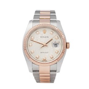 Rolex DateJust 36 Diamond Jubilee Dial Stainless Steel & Rose Gold - 116231