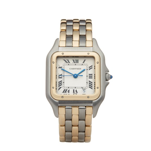Cartier Panthère Three Row Stainless Steel & Yellow Gold - W25028B6