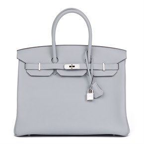 Hermès Bleu Glacier Togo Leather Birkin 35cm
