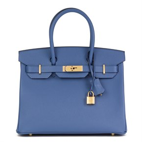 Hermès Bleu Brighton Epsom Leather Birkin 30cm