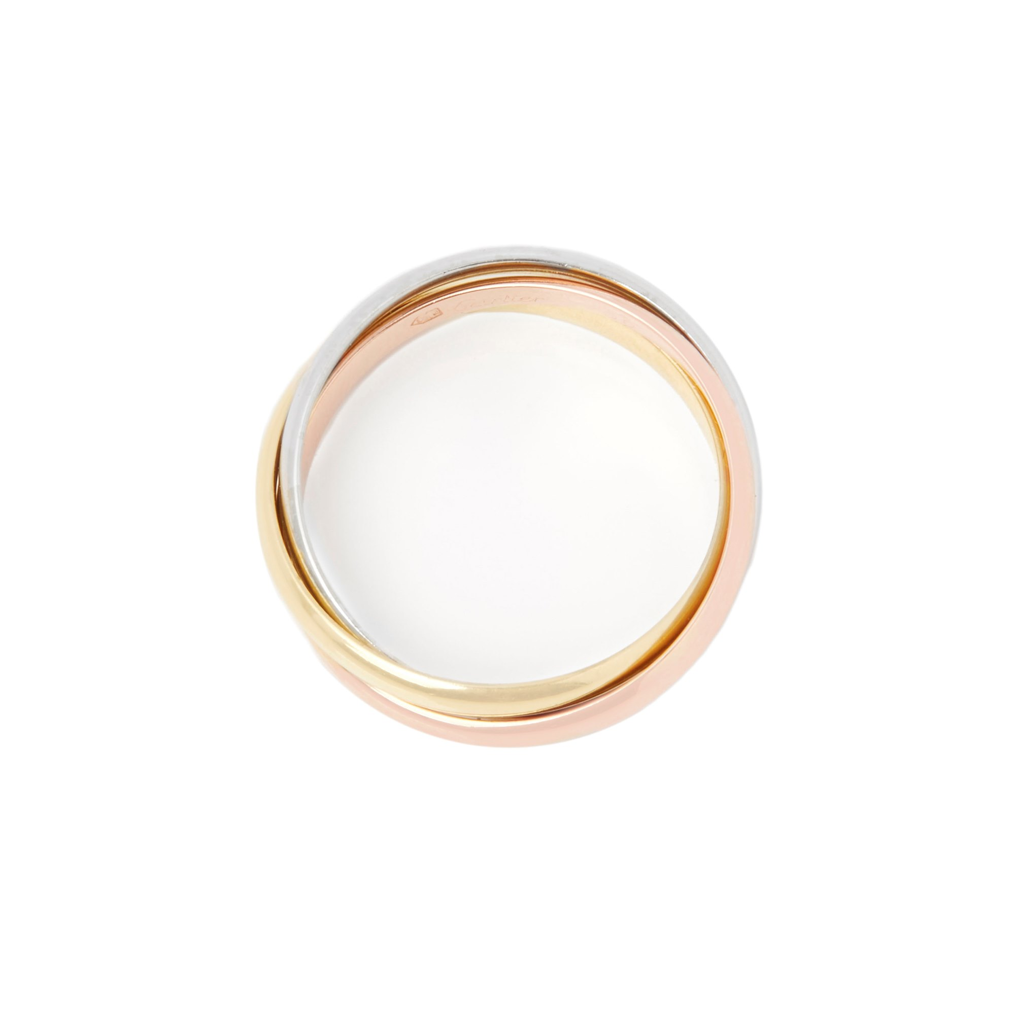 Cartier 18k Yellow, White & Rose Gold Small Trinity Ring
