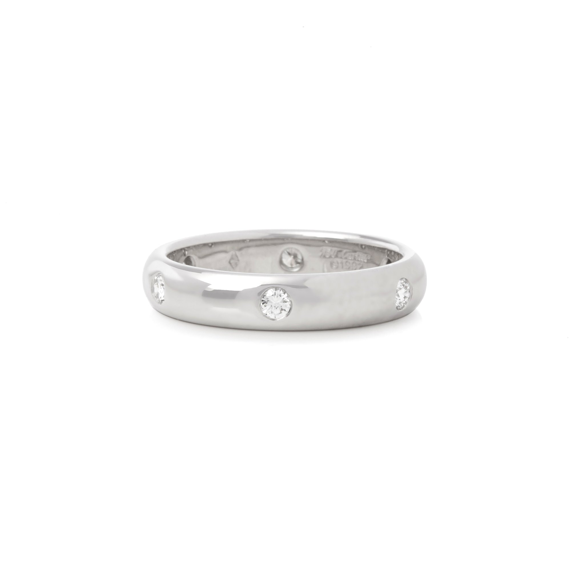 Cartier 18k White Gold 6 Diamond Band