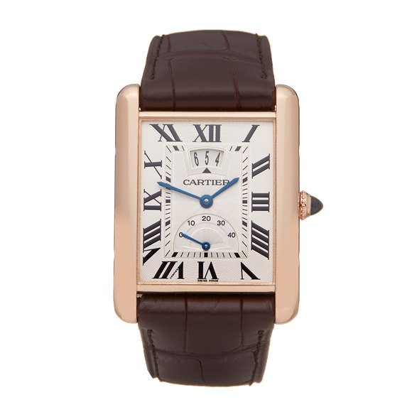Cartier Tank Louis Cartier Big Date Lc Xl 18k Rose Gold - W1560003 or 3185