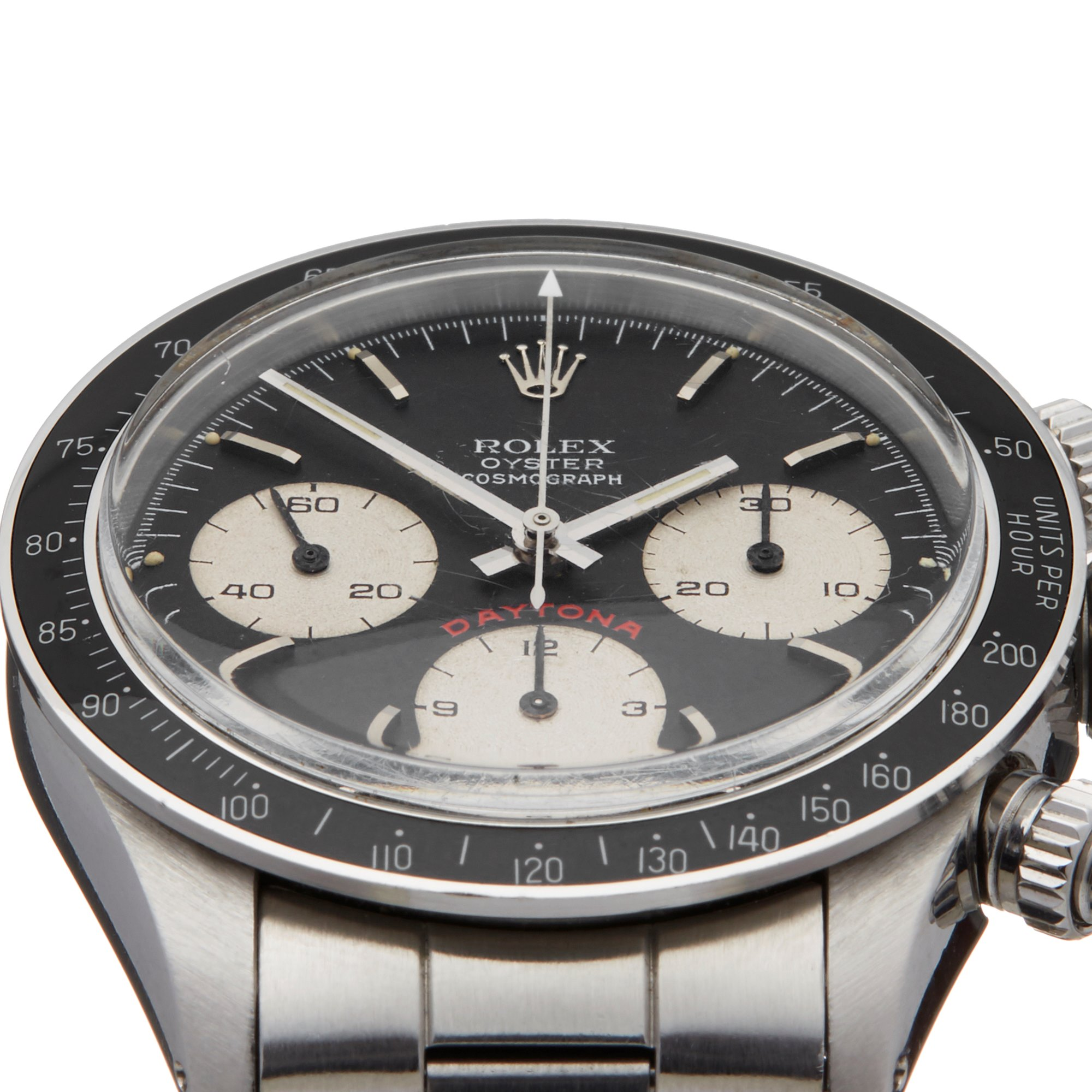 Rolex Daytona Big Red Cosmograph Just Serviced Unpolished Stainless Steel 6263