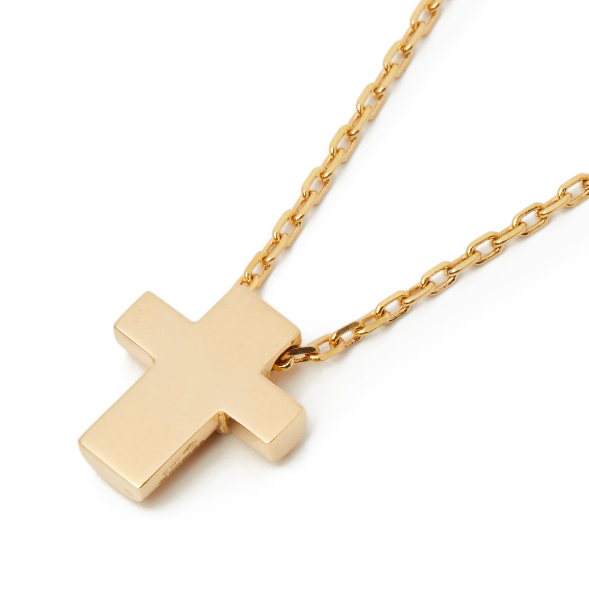 Asprey 18k Yellow Gold Cross Pendant Necklace