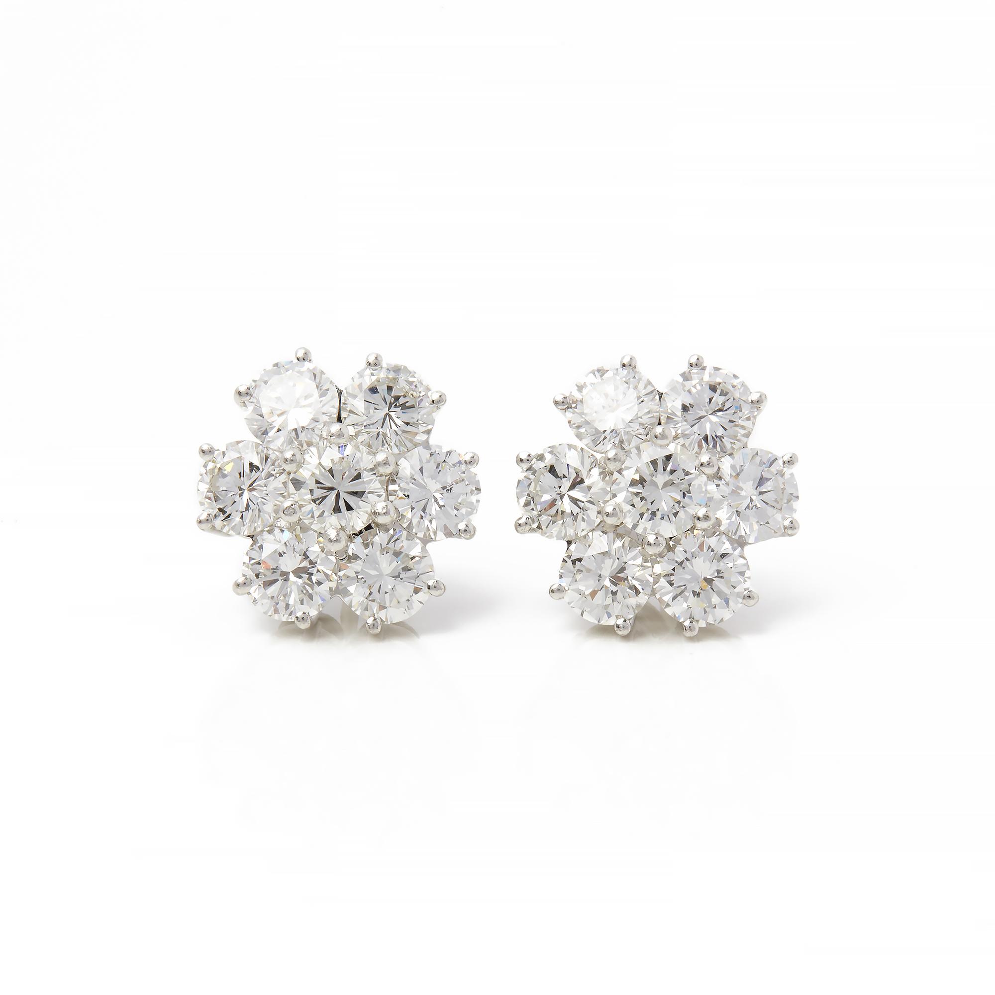 d9922864d6d40d BOODLES 18K WHITE GOLD DIAMOND CLUSTER STUD EARRINGS COM2177   eBay