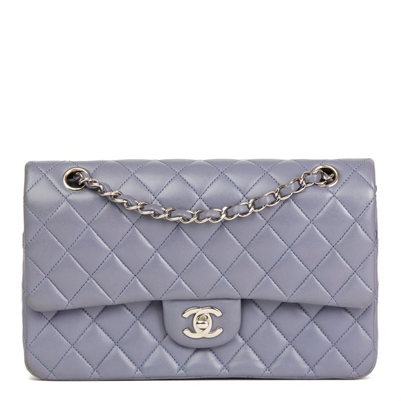 Chanel Lilac Quilted Lambskin Medium Classic Double Flap Bag