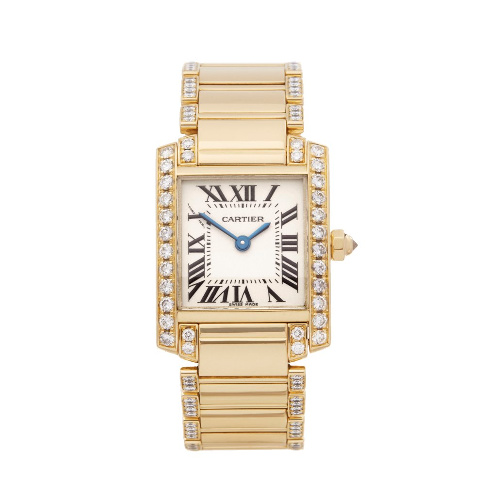 Cartier Tank Francaise Diamond 18k Yellow Gold WE1001RG or 2385