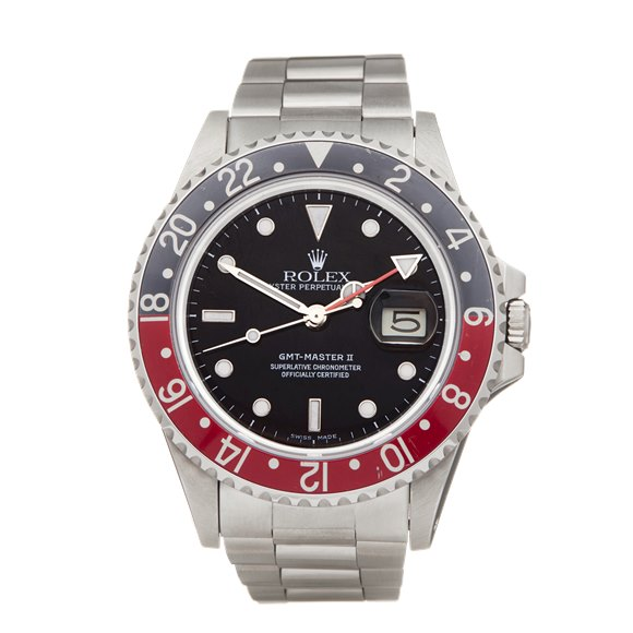 Rolex GMT-Master II Fat Lady Coke Stainless Steel - 16760