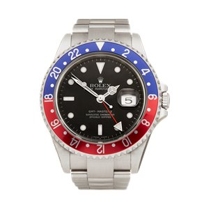 Rolex GMT-Master II Rectangular Dial NOS Pepsi Stainless Steel - 16710